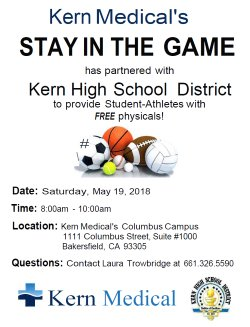 Kern Medical Offering Of Free Sports Physicals For Khsd Students